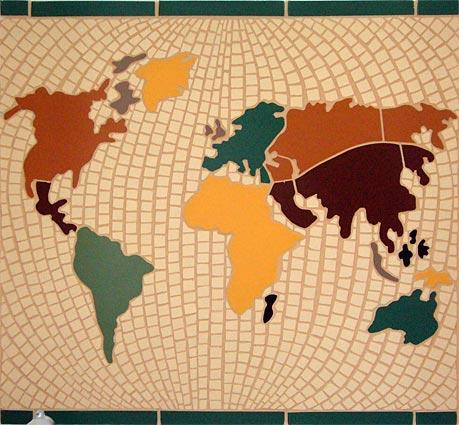 Planisphère en mosaïque
